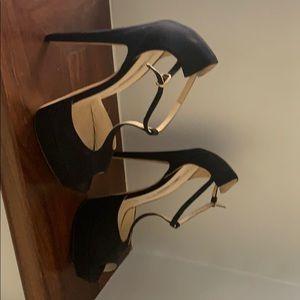 Brian Atwood satin black heels